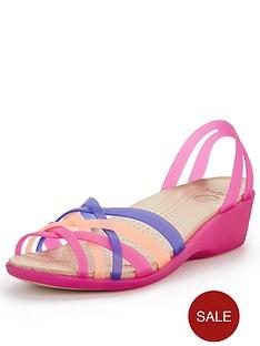 crocs-huarache-mini-wedge-sandals