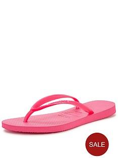 havaianas-bright-pink-flip-flops
