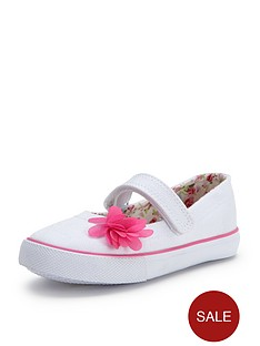 ladybird-stephie-younger-girls-canvas-ballerina-plimsolls
