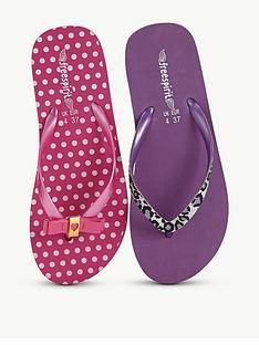 freespirit-trixie-girls-flip-flops-2-pack