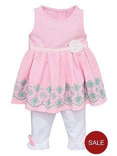 ladybird-girls-seersucker-stripe-dress-and-leggings-set-2-piece