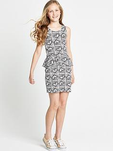 freespirit-girls-monochrome-heart-peplum-dress