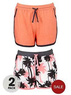 freespirit-girls-bright-palm-tree-shorts-2-pack