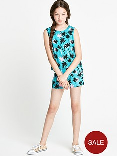 freespirit-girls-palm-tree-top-and-shorts-set-2-piece