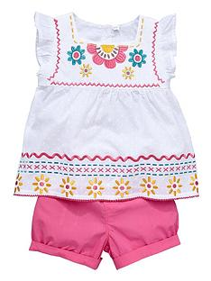 ladybird-girls-dobby-spot-embroidered-top-and-shorts-set-12-months-to-7-years
