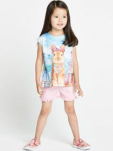 ladybird-girls-cute-ice-cream-bunny-t-shirt-and-shorts-set-12-months-to-7-years