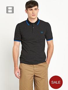 fred-perry-mens-black-polka-dot-pique-polo-shirt