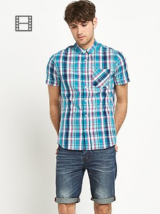 goodsouls-mens-green-check-short-sleeve-shirt