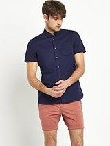 Mens Short Sleeve Linen Mix Shirt