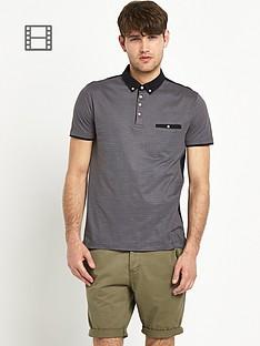 goodsouls-mens-printed-hexagon-printed-polo-shirt