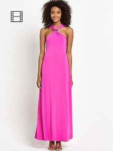 definitions-petite-strap-gold-trim-maxi-dress