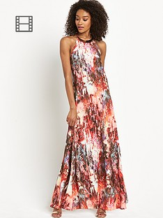 definitions-petite-printed-gold-trim-maxi-dress