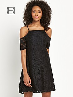 definitions-cold-shoulder-lace-swing-dress