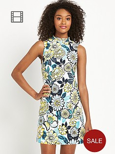 definitions-high-neck-printed-shift-dress