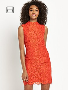 definitions-paisley-lace-high-neck-dress