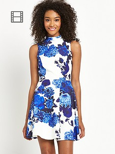definitions-printed-scuba-high-neck-skater-dress