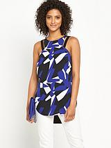 Abstract Cut Out Top