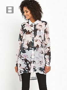 definitions-floral-abstract-printed-oversized-shirt