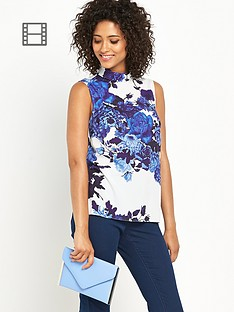 definitions-high-neck-printed-top