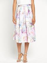 Faint Floral Full Skirt