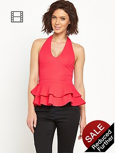 definitions-textured-jersey-peplum-halter-top