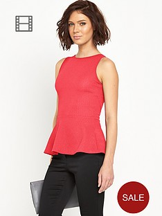 definitions-textured-jersey-open-back-peplum-top