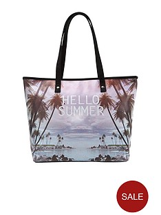 hello-summer-slogan-beach-bag