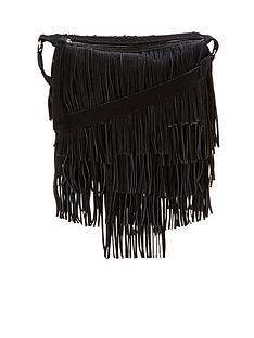 suede-fringed-shoulder-bag-black