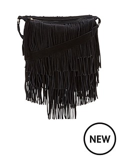suede-fringed-shoulder-bag-black