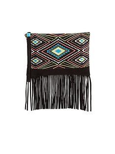 bead-embellished-fringed-wristlet-clutch-bag
