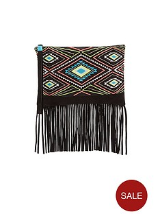 bead-embellished-fringed-wristlet-clutch-bag