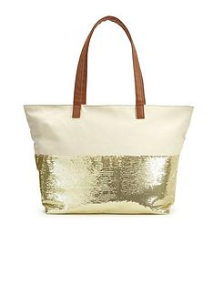 sequin-embellished-canvas-beach-bag