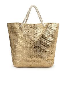 metallic-straw-beach-bag