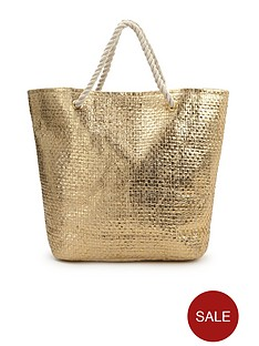 metallic-straw-beach-bag