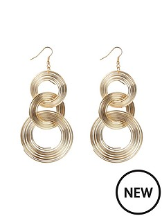 brushed-tri-circle-earrings