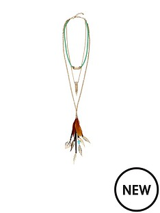 layered-feather-detail-necklace