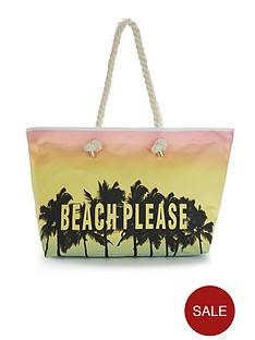 beach-please-slogan-beach-bag