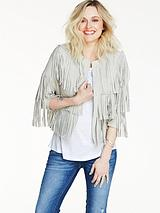 Suede Fringe Crop Jacket