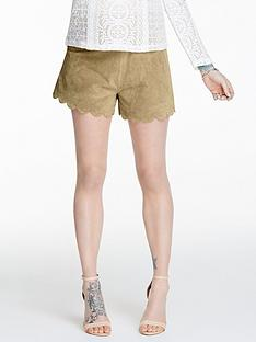 fearne-cotton-suede-scalloped-shorts