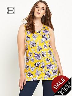 so-fabulous-floral-print-split-side-sleeveless-tunic