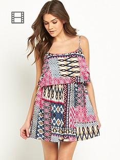 glamorous-strappy-overlayered-dress