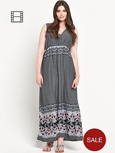 alice-you-curve-border-print-maxi-dress