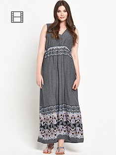 alice-you-curve-border-print-maxi-dress