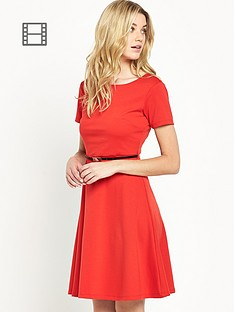 south-petite-ponte-fit-and-flare-dress