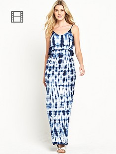 south-dip-dye-frill-maxi-dress