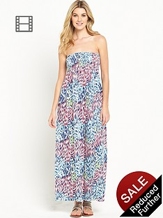 south-animal-bandeau-maxi-dress