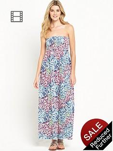 south-tall-animal-bandeau-maxi-dress