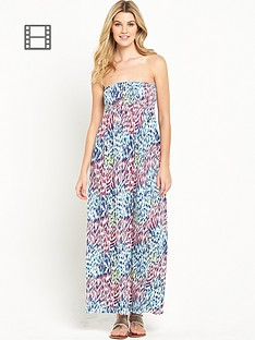south-tall-animal-bandeau-maxi-dress