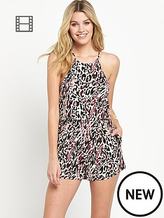 south-jersey-print-strappy-double-layer-playsuit
