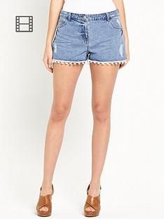 south-pom-pom-trim-shorts